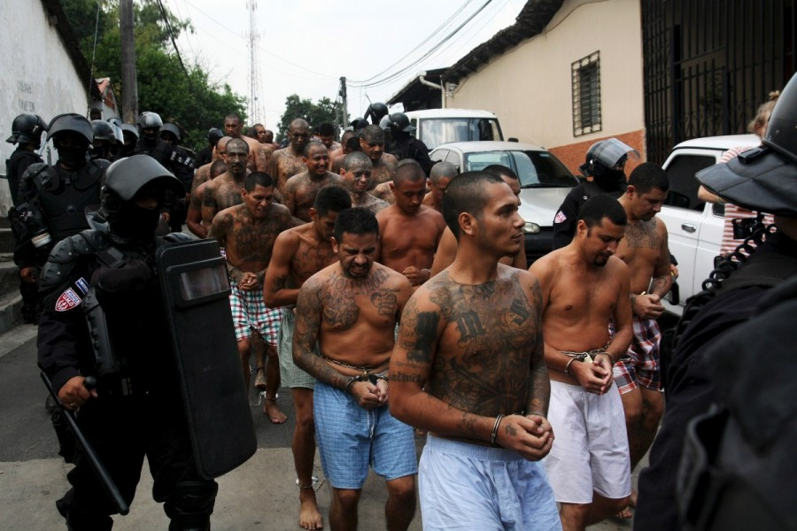 MS-13 gang,MS-13,MS-13 gang members,Members of MS-13,El Salvador,crime-ravaged,Central American nation