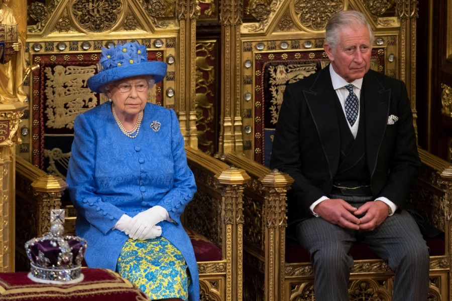 Queen Elizabeth,European Union flag,Queen Elizabeth opens UK parliament,UK parliament,Britain's Queen Elizabeth,Prince Charles