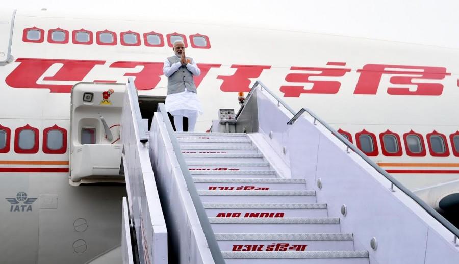 Narendra Modi,PM Narendra Modi,Narendra Modi returns to India,External Affairs Min Sushma Swaraj,Sushma Swaraj
