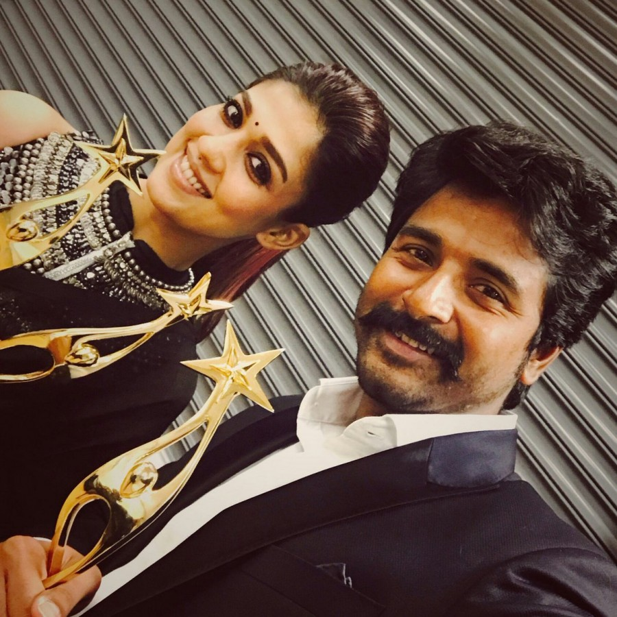 Velaikkaran,Sivakarthikeyan and Nayanthara,Sivakarthikeyan,Nayanthara,Nayanthara at SIIMA awards,Sivakarthikeyan at SIIMA awards,SIIMA awards 2017,SIIMA awards