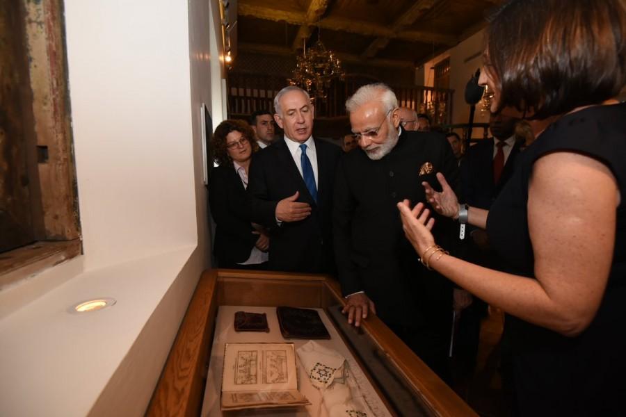 Narendra Modi,PM Narendra Modi,Prime Minister Narendra Modi,Israeli Premier Benjamin Netanyahu,Benjamin Netanyahu,Israel Museum,Indian Jewish heritage