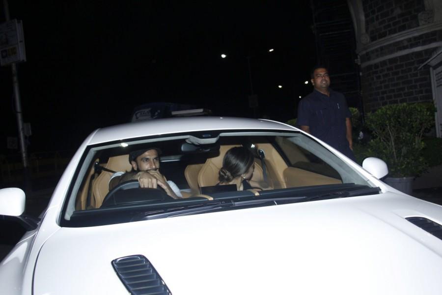 Ranveer Singh,Deepika Padukone,Ranveer Singh and Deepika Padukone,Deepika Padukone and Ranveer Singh,Aston Martin,Ranveer Singh takes Deepika Padukone in Aston Martin