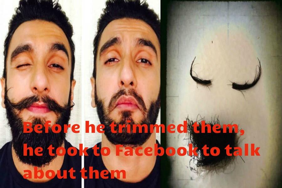 Ranveer Singh,actor Ranveer Singh,Padmavati,Ranveer Singh trims his moustache,Ranveer Singh moustache,Ranveer Singh moustache pics,Ranveer Singh moustache images,Ranveer Singh moustache stills,Ranveer Singh moustache pictures,Ranveer Singh moustache photo