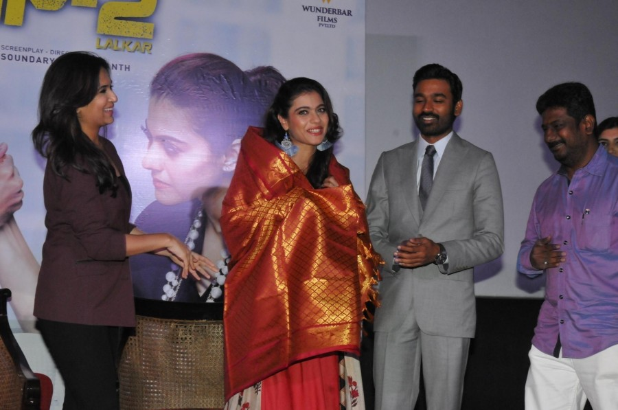 Kajol,Dhanush,Kajol and Dhanush,VIP 2 promotion,VIP 2,VIP 2 movie promotion