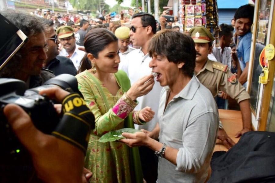 Shah Rukh Khan,Shah Rukh Khan AND Anushka Sharma,Imtiaz Ali,Anushka Sharma,Jab Harry met Sejal,Jab Harry met Sejal promotion,Jab Harry met Sejal movie promotion