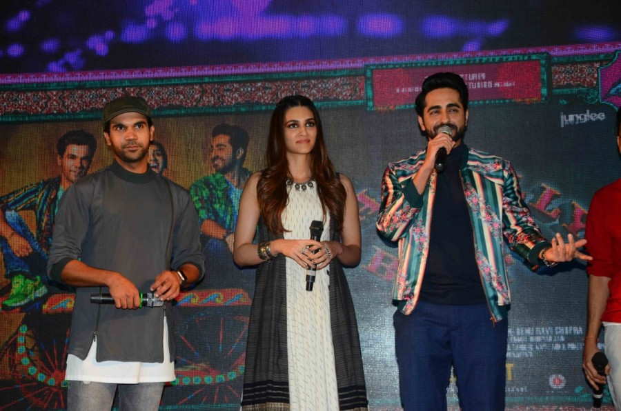 Kriti Sanon,Ayushmann Khurrana,Rajkummar Rao,Twist Kamariya,Twist Kamariya song,Twist Kamariya song launch,Bareilly Ki Barfi