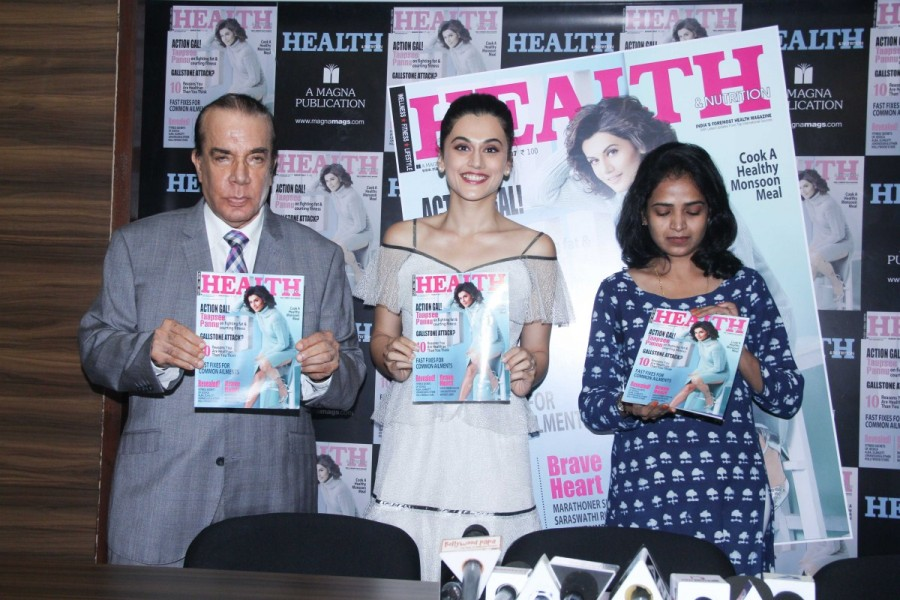 Taapsee Pannu,actress Taapsee Pannu,Health and Nutrition Magazine launch,Health and Nutrition Magazine,taapsee