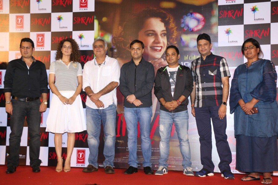 Kangna Ranaut,Esha Tewari Pande,Bhushan Kumar,Hansal Mehta,Simran trailer launch,Simran trailer,Simran trailer launch pics,Simran trailer launch images,Simran trailer launch stills,Simran trailer launch pictures,Simran trailer launch photos