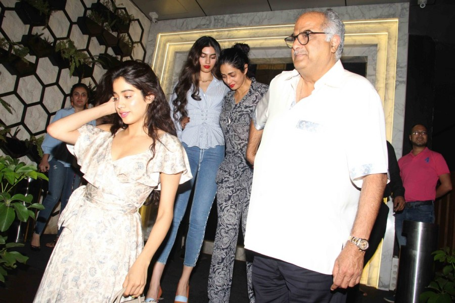 Sridevi Kapoor,Sridevi Kapoor birthday,Sridevi Kapoor birthday celebration,Sridevi Kapoor birthday celebration with family