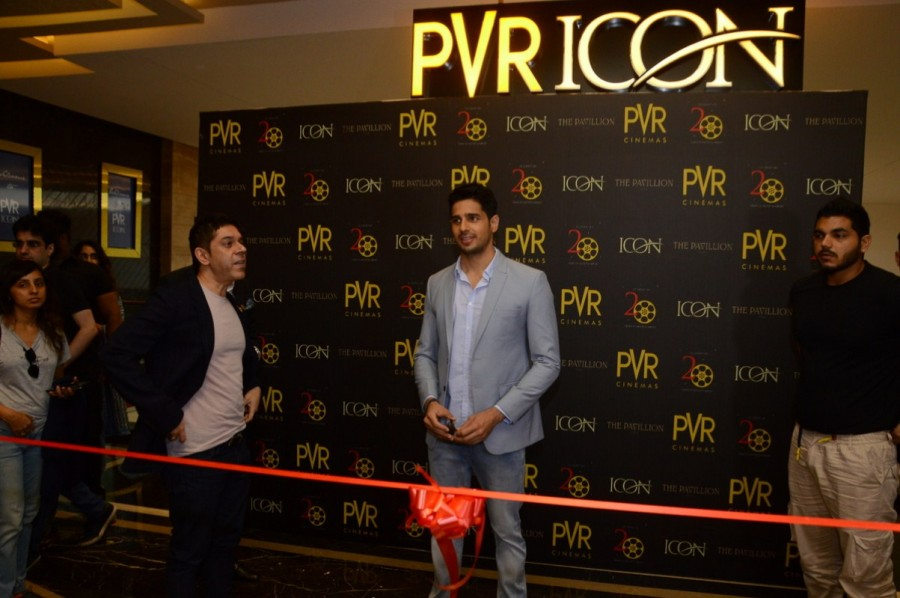 Sidharth Malhotra,actor Sidharth Malhotra,Sidharth Malhotra inaugurates new PVR icon,PVR icon