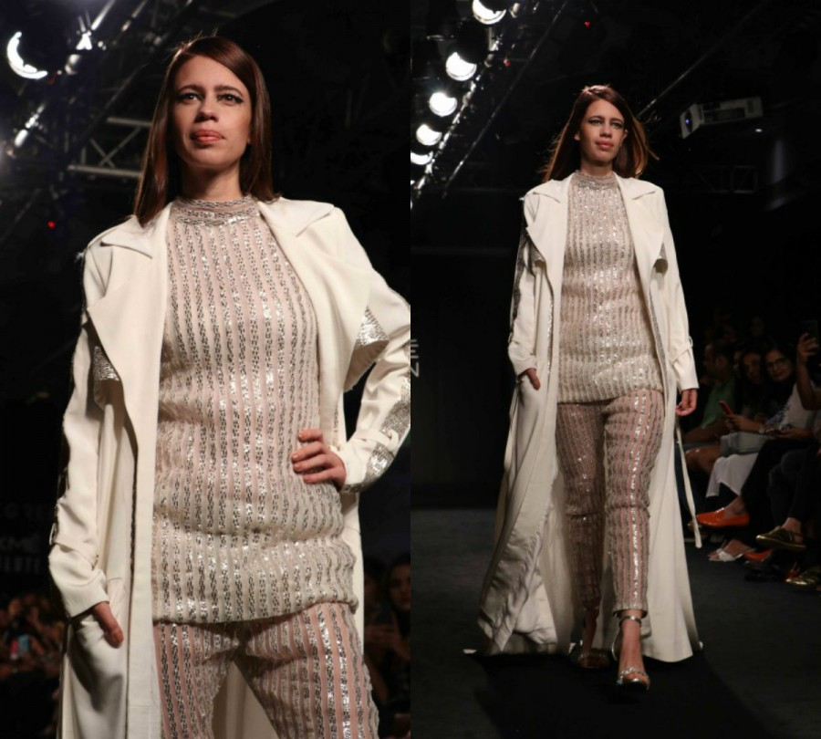 Kalki Koechlin,actress Kalki Koechlin,Kalki Koechlin at LFW 2017,Kalki Koechlin at Lakme Fashion Week,Lakme Fashion Week,Lakme Fashion Week 2017,Celebs at Lakme Fashion Week