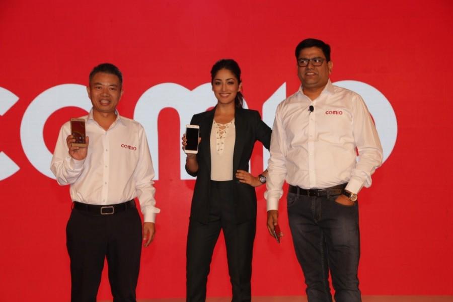 Yami Gautam,actress Yami Gautam,Comio smartphones,Comio smartphones launch