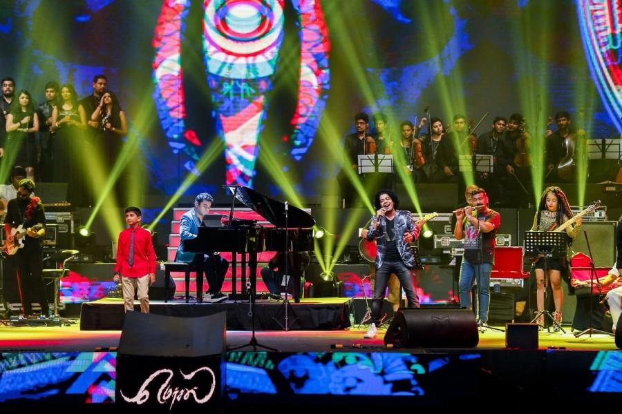 A.R. Rahman,A.R. Rahman performs,A.R. Rahman performs at Mersal,A.R. Rahman performs at Mersal audio launch,Mersal audio launch,A.R. Rahman at Mersal audio launch