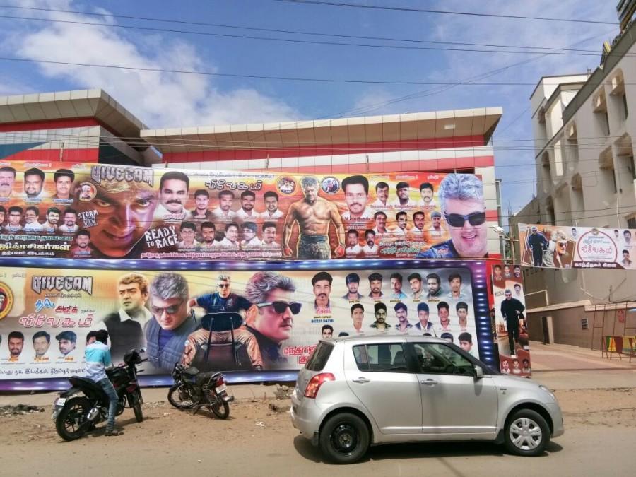 Thala Ajith,Ajith,Ajith Kumar,Ajith fans celebrate Vivegam,Vivegam,Vivegam release,Vivegam movie release