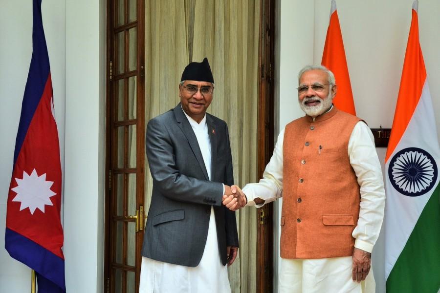 PM Narendra Modi,Narendra Modi,Nepal PM Deuba,Modei meets Deuba,Sher Bahadur Deuba,Nepal PM Sher Bahadur Deuba