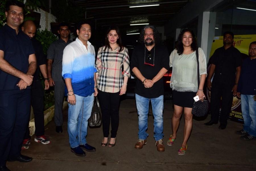 Shilpa Shetty,Raj Kundra,Sachin Tendulkar,Anjali Tendulkar,Sniff,Sniff special screening