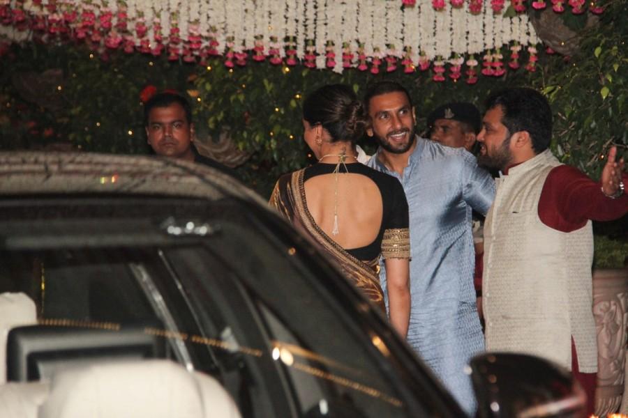 Deepika Padukone and Ranveer Singh,Deepika Padukone,Ranveer Singh,Deepika Padukone at Mukesh Ambani bash,Ranveer Singh at Mukesh Ambani bash,Ganesh Chaturathi Celebrations