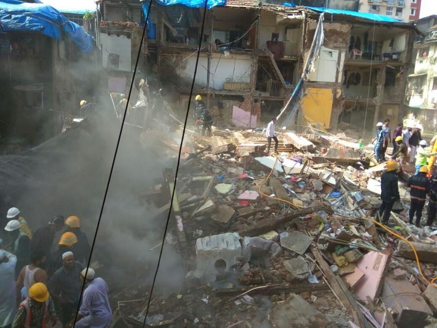Building collapse,Mumbai building collapse,Building collapse in Mumbai,J.J. Hospital
