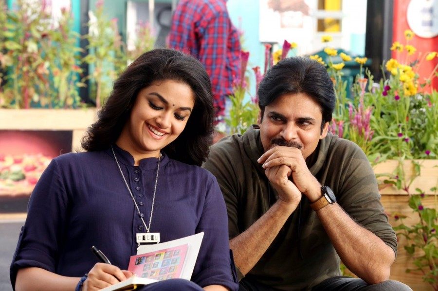 Pawan Kalyan and Keerthy Suresh,Pawan Kalyan,Keerthy Suresh,PSPK25,PSPK25 sets,PSPK25 on the sets,PSPK 25,PSPK