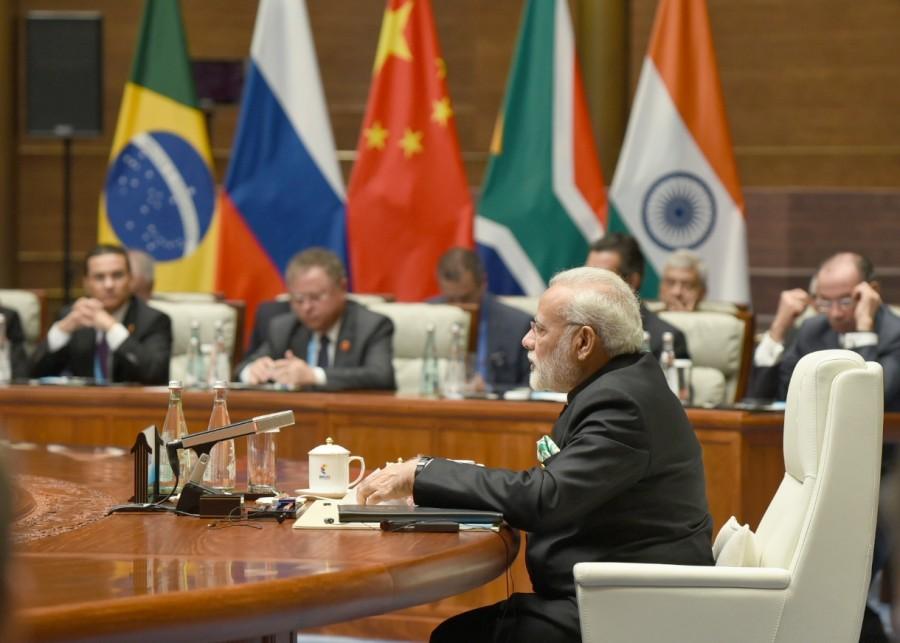 Narendra Modi,Modi at Plenary Session,Plenary Session of BRICS Summit,Plenary Session of BRICS Summit 2017,BRICS Summit 2017,BRICS Summit,Prime Minister Narendra Modi