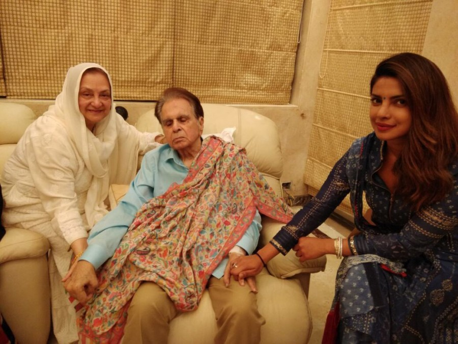 Priyanka Chopra,Priyanka Chopra visits Dilip Kumar,Dilip Kumar,Saira Banu,Priyanka Chopra and Dilip Kumar,Dilip Kumar and Saira Banu