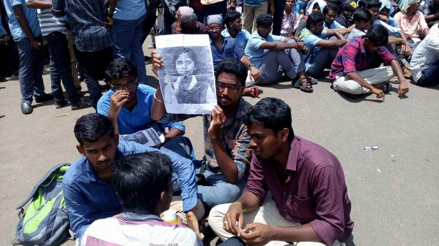 Anitha,Anitha Sucide,NEET,NEET protest,Protest against NEET,National Eligibility-cum-Entrance Test