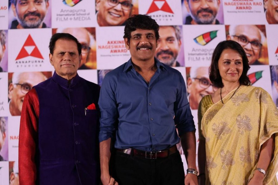 Nagarjuna Akkineni,Amala,Nagarjuna,ANR Award 2017 Announcement press meet,ANR Award 2017,ANR Award 2017 press meet,ANR Award 2017 press meet pics,ANR Award 2017 press meet images,ANR Award 2017 press meet stills,ANR Award 2017 press meet pictures,ANR Awar