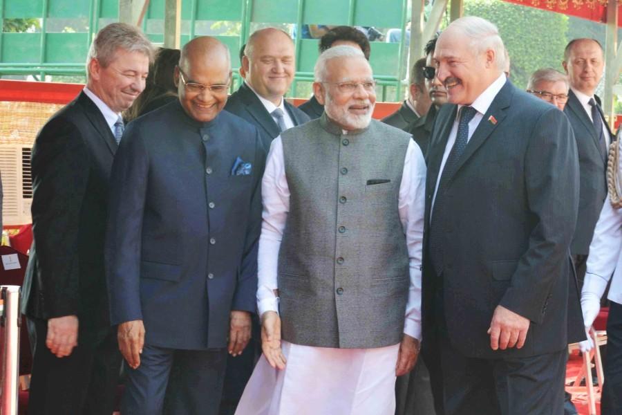 Ram Nath Kovind,Narendra Modi,Alexander Lukashenko,President of Belarus,Belarusian President in India