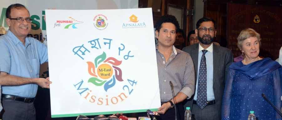 Sachin Tendulkar,Sachin,Sachin Tendulkar launches Mission 24,Sachin launches Mission 24,Mission 24,Former Indian cricketer Sachin Tendulkar