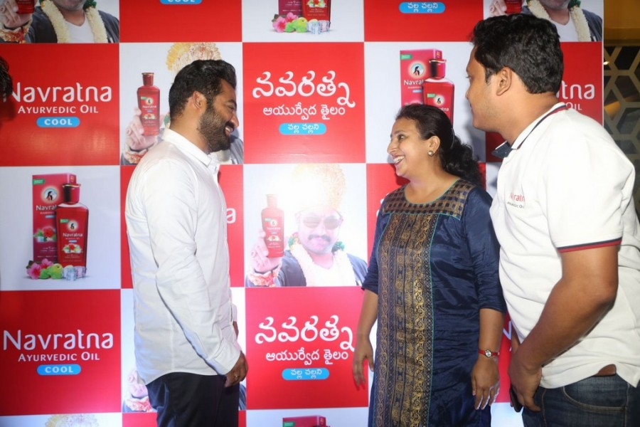 Jr NTR,actor Jr NTR,Navratna Ayurvedic Oil Press Meet,Navratna Ayurvedic Oil,Jai Lava Kusa,Jai Lava Kusa actor