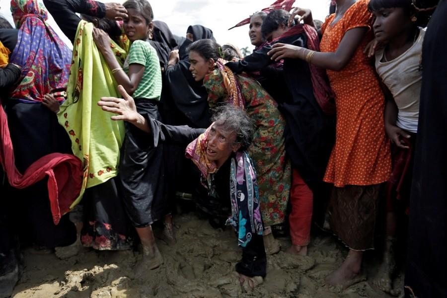 Rohingya,Rohingya flee Myanmar,Violence in Myanmar,480,000 Rohingya,refuge in Bangladesh