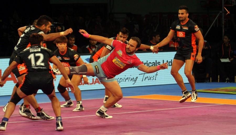 Maninder Singhs,Pro Kabaddi League 2017,Bengal beat Jaipur,Bengal Warriors beat Jaipur Pink Panthers,Bengal Warriors,Jaipur Pink Panthers