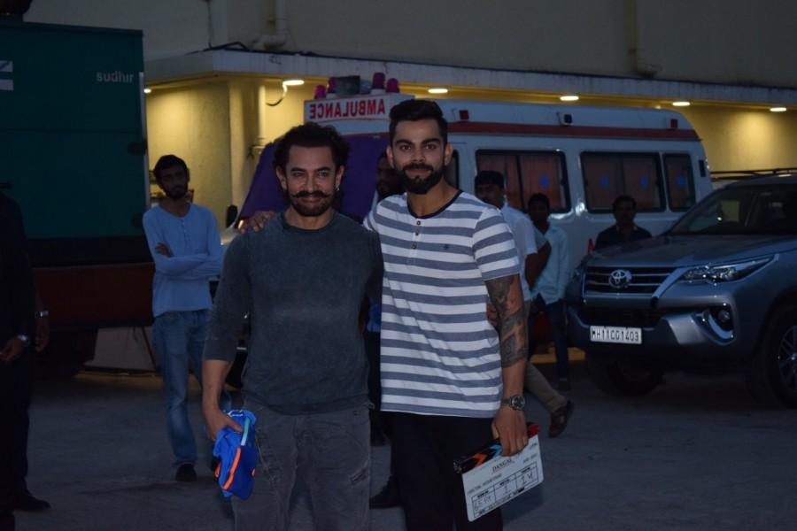 Aamir Khan and Virat Kohli,Aamir Khan,Virat Kohli,Secret Superstar,Secret Superstar promotion,Secret Superstar movie promotion,Virat Kohli promotes Secret Superstar,Aamir Khan promotes Secret Superstar