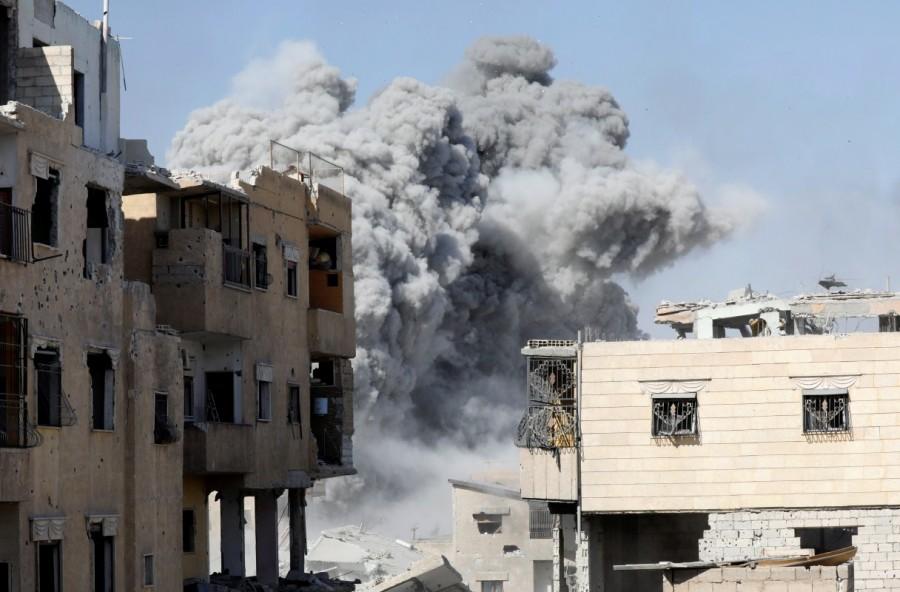 Battle for Islamic State,Islamic State,U.S.-backed Syrian Democratic Forces,Syrian Democratic Forces