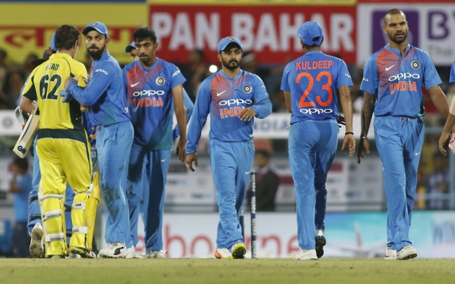 Australia thrash India,Australia beats India,Australia thrash India by 8 wickets,T20I series,Twenty20 International,Barsapara Stadium,David Warner,Virat Kohli