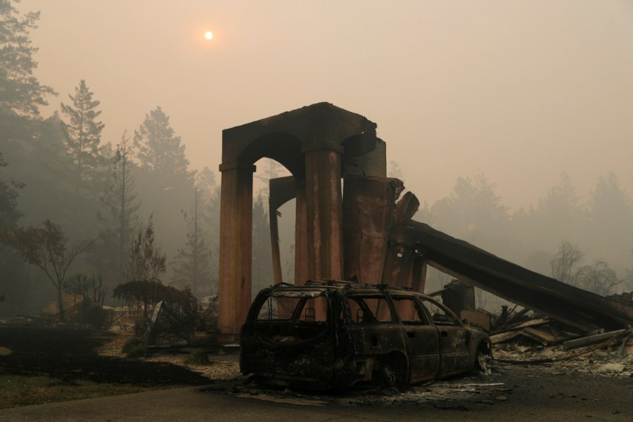 California,California landscape,Tubbs Fire,Sonoma and Napa counties