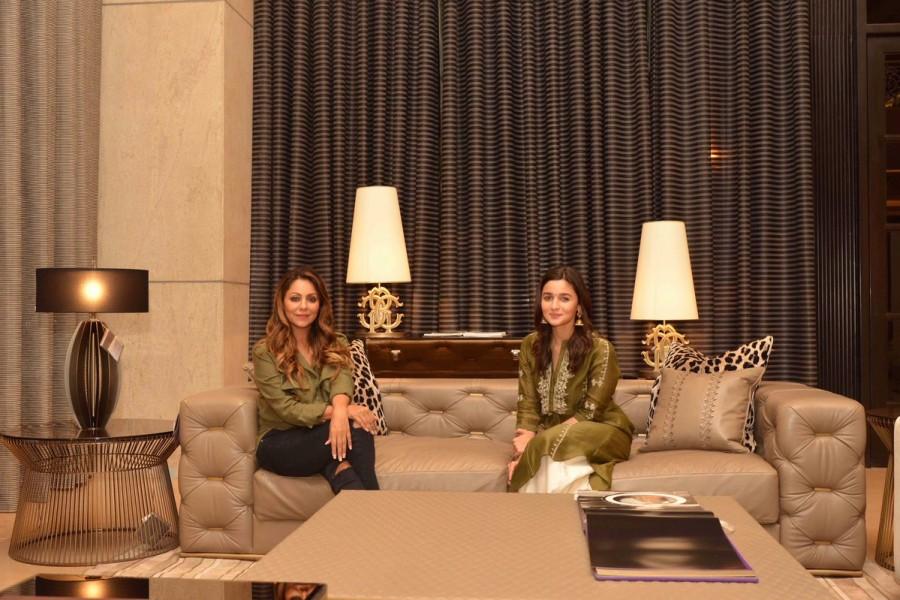 Alia Bhatt,actress Alia Bhatt,Alia Bhatt visits Gauri Khan,Alia Bhatt visits Gauri Khan store,Gauri Khan,Gauri Khan store,Ranbir Kapoor
