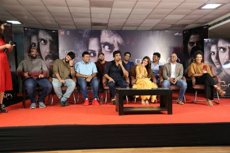 Akkineni Nagarjuna,Samantha,Seerat Kapoor,Raju Gari Gadhi 2,Raju Gari Gadhi 2 press meet,Raju Gari Gadhi 2 press meet pics,Raju Gari Gadhi 2 press meet images,Raju Gari Gadhi 2 press meet stills