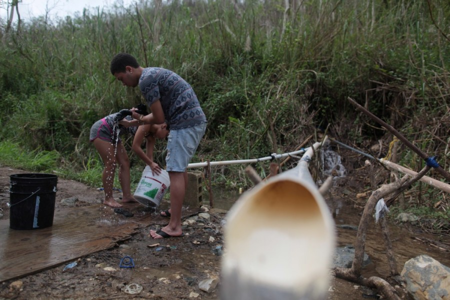 Puerto Ricans,drinking water,search for water,Hurricane Maria hit,Hurricane Maria