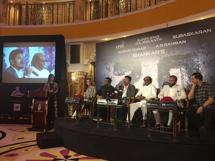 Rajinikanth,Akshay Kumar,Shankar,A.R Rahman,2.0 press meet,2.0,2.0 press meet  pics,2.0 press meet images,2.0 press meet stills,2.0 press meet pictures,2.0 press meet photos