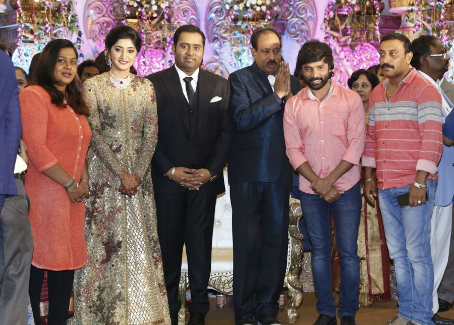 Snehan,Bobby Simha,Bala,Vairamuthu,Prabhu,Abinesh Elangovan Nandhini wedding reception,Abinesh Elangovan and Nandhini wedding reception,Abinesh Elangovan