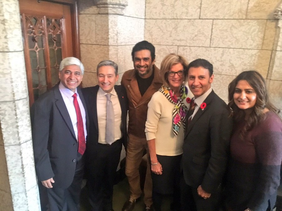 R. Madhavan,actor R. Madhavan,R. Madhavan visits Canadian parliament,R. Madhavan at Canadian parliament,Gary Anandasangaree,Vikram Vedha