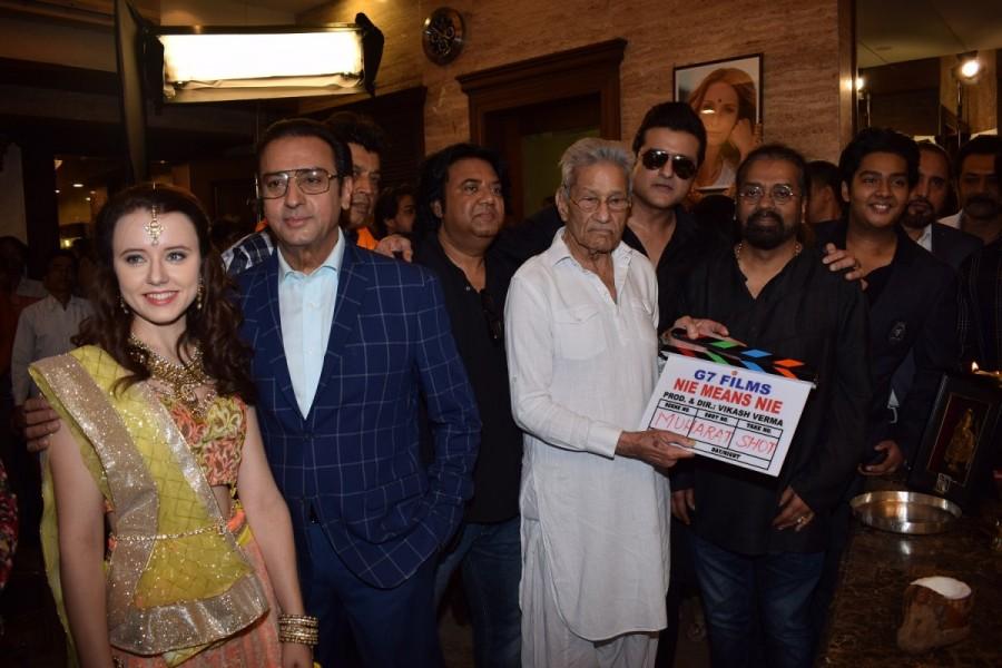 Rajkumar Kohli,Gulshan Grover,Indo-Polish film,Nie means Nie,Nie means Nie Mahurat,Nie means Nie launch,Nie means Nie movie Mahurat,Nie means Nie movie launch,Dhruv Verma,Vikash Verma,Armaan Kohli,Hariharan