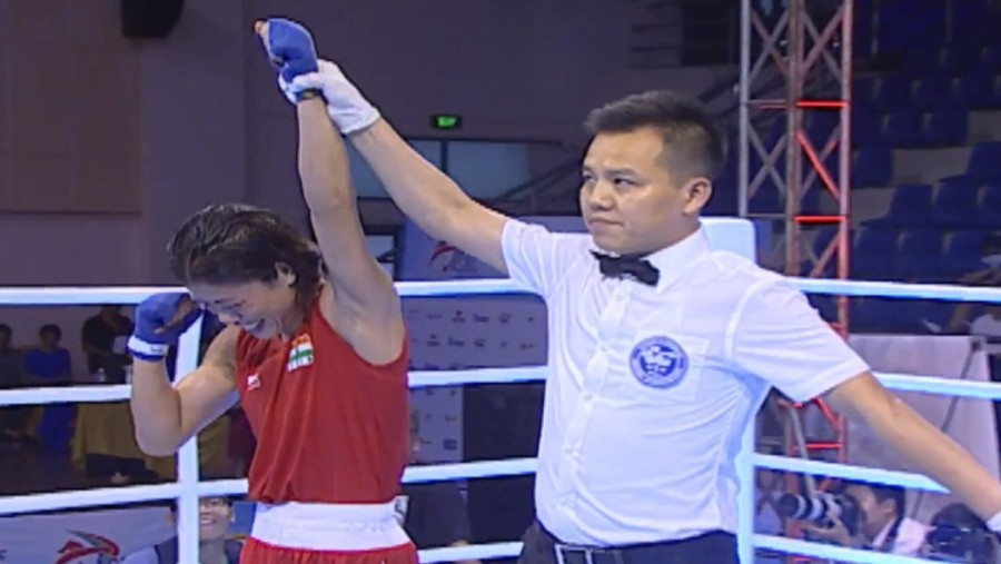 Mary Kom,Mary Kom wins gold,Asian women's Boxing Championships,Indian boxer Mary Kom,MC Mary Kom,Hyang Mi Kim,Asian Boxing Championship