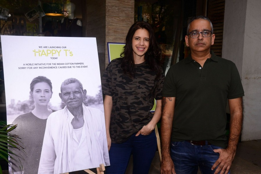 Kalki Koechlin,actress Kalki Koechlin,Lavin Lekhraj,Cottonworld's Happy T's- Good for you,Cottonworld's Happy Ts