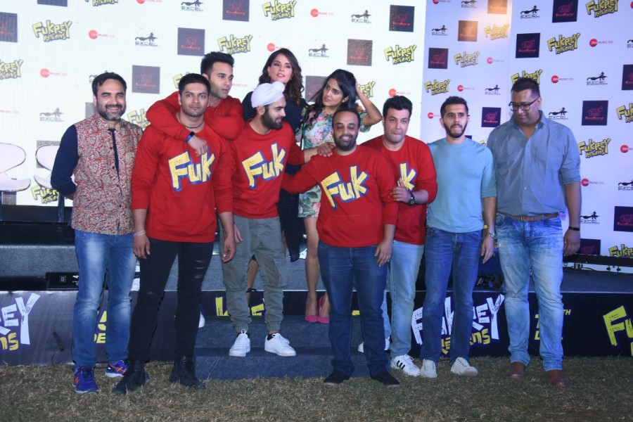 Pulkit Samrat,Varun Sharma,Ali Fazal,Manjot Singh,Richa Chadda,Fukrey Returns,Fukrey Returns song launch,Fukrey Returns song,Fukrey Returns song launch pics,Fukrey Returns song launch images,Fukrey Returns song launch stills,Fukrey Returns song launch pic