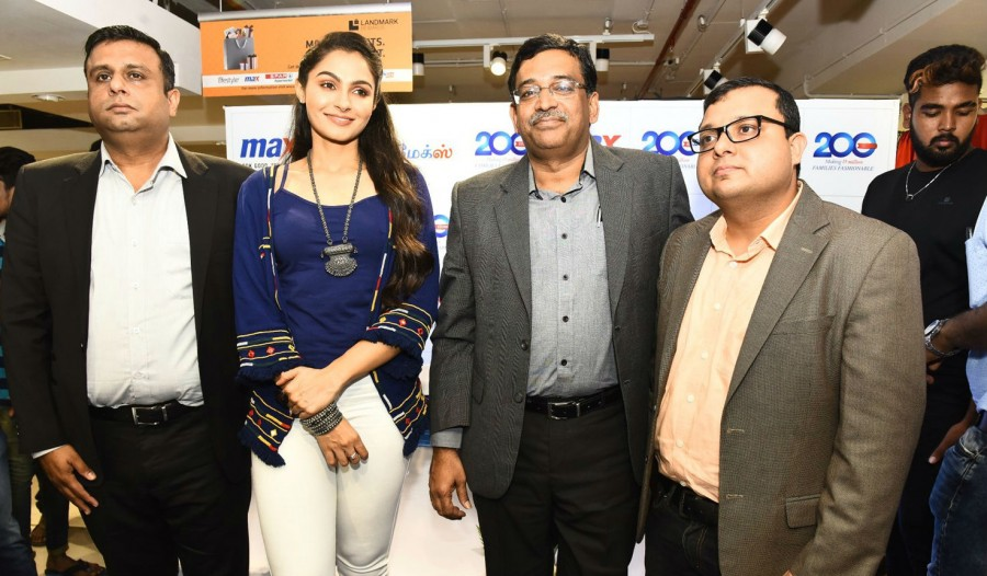 Andrea Jeremiah,actress Andrea Jeremiah,200th Max Fashion India Showroom,200th Max Fashion India Showroom in Chennai