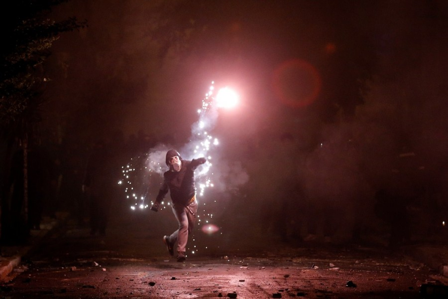 Fiery protests,Greece,Greece protests,Protesters clash,Fiery protests in Greece