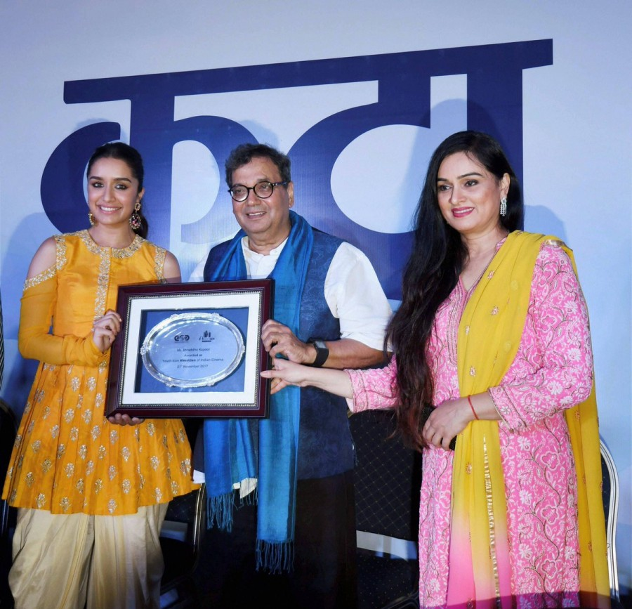 Shraddha Kapoor,Shraddha Kapoor gets Youth Icon tag,actress Shraddha Kapoor,Youth Icon of NextGen,IFFI 2017,IFFI,Shraddha Kapoor at IFFI
