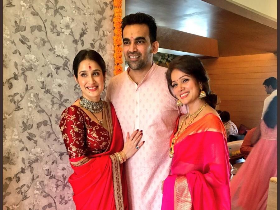 Zaheer Khan,Zaheer Khan wedding,Zaheer Khan marriage,Zaheer Khan weds Sagarika Ghatge,Sagarika Ghatge wedding,Sagarika Ghatge marriage,zaheer khan wife sagarika ghatge